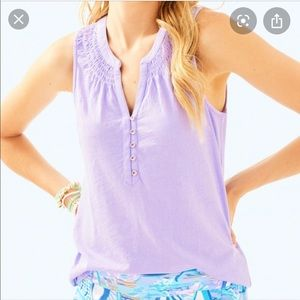 Lilly Pulitzer Lilac Essie Top